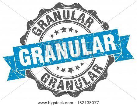 granular. stamp. sign. seal. round. retro. ribbon