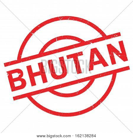 Bhutan rubber stamp. Grunge design with dust scratches. Effects can be easily removed for a clean, crisp look. Color is easily changed.
