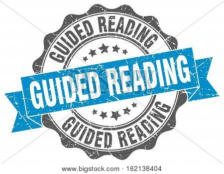 guided reading. stamp. sign. seal. round. retro. ribbon