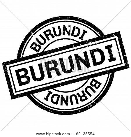 Burundi rubber stamp. Grunge design with dust scratches. Effects can be easily removed for a clean, crisp look. Color is easily changed.