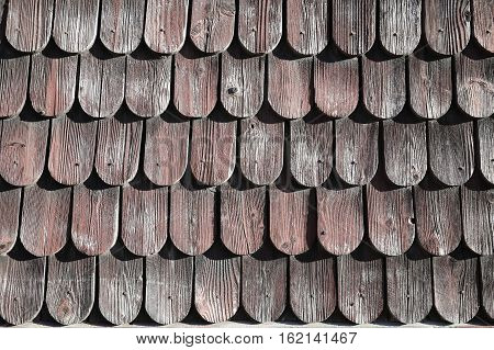 Traditional wooden roof tile of old house old wooden roof