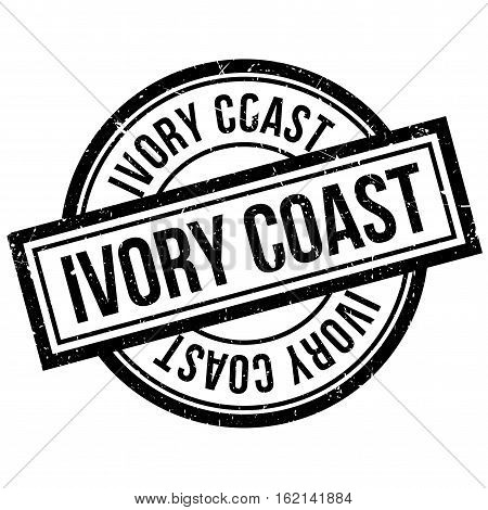 Ivory coast rubber stamp. Grunge design with dust scratches. Effects can be easily removed for a clean, crisp look. Color is easily changed.