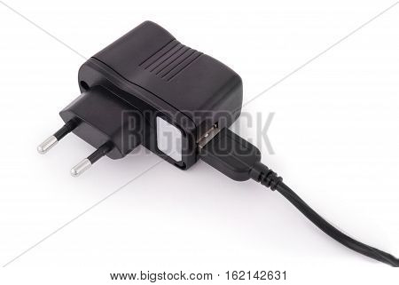 Charger to the smartphone isolated with path