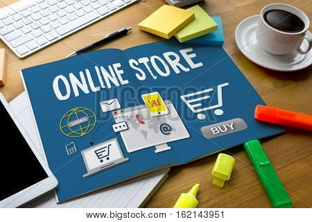 Online Store Add To Cart Online  Order Store Buy Shop  Online Payment Shopping Business And Modern L