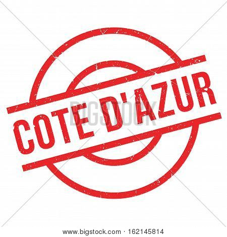 Cote D'Azur rubber stamp. Grunge design with dust scratches. Effects can be easily removed for a clean, crisp look. Color is easily changed.
