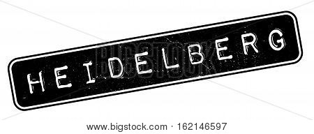 Heidelberg rubber stamp. Grunge design with dust scratches. Effects can be easily removed for a clean, crisp look. Color is easily changed.