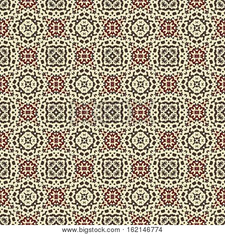 Ornamental seamless ornate boho natural african ethno brown beige pattern