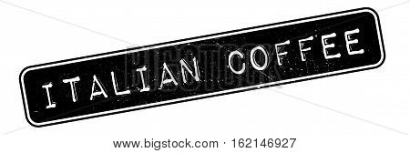 Italian coffee rubber stamp. Grunge design with dust scratches. Effects can be easily removed for a clean, crisp look. Color is easily changed.