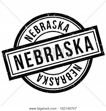 Nebraska rubber stamp. Grunge design with dust scratches. Effects can be easily removed for a clean, crisp look. Color is easily changed.
