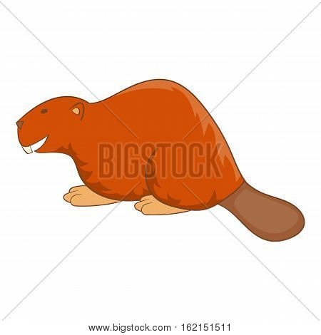 Beaver icon. Cartoon illustration of beaver vector icon for web