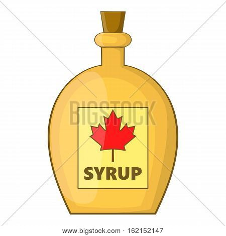 Bottle of maple syrup icon. Cartoon illustration of bottle of maple syrup vector icon for web