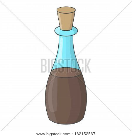 Soy sauce bottle icon. Cartoon illustration of soy sauce bottle vector icon for web