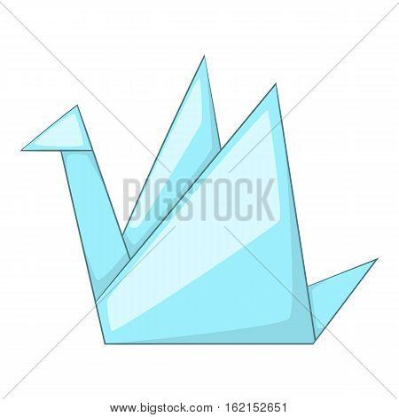 Paper dove icon. Cartoon illustration of paper dove vector icon for web
