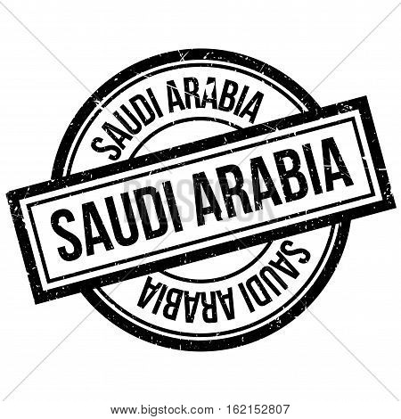 Saudi Arabia rubber stamp. Grunge design with dust scratches. Effects can be easily removed for a clean, crisp look. Color is easily changed.