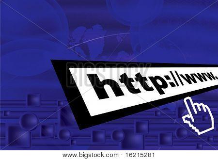 Web background with url address