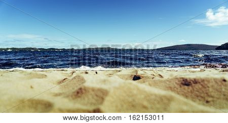 Coalmine Beach Walpole Australia . vintage toning filter add .Selective focus .
