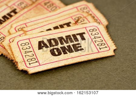 Old tickets admit one movie pile of several