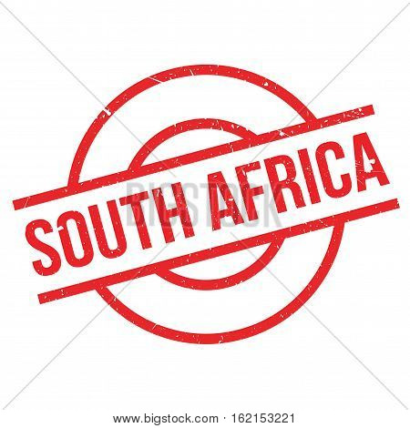 South Africa rubber stamp. Grunge design with dust scratches. Effects can be easily removed for a clean, crisp look. Color is easily changed.
