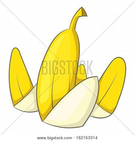 Banana peel icon. Cartoon illustration of banana peel vector icon for web
