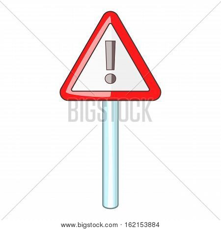 Warning sign icon. Cartoon illustration of warning sign vector icon for web