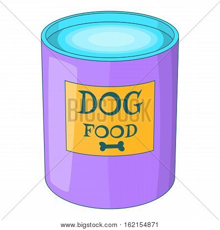 Dog food can icon. Cartoon illustration of dog food can vector icon for web