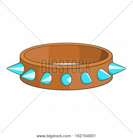 Spiked collar icon. Cartoon illustration of spiked collar vector icon for web