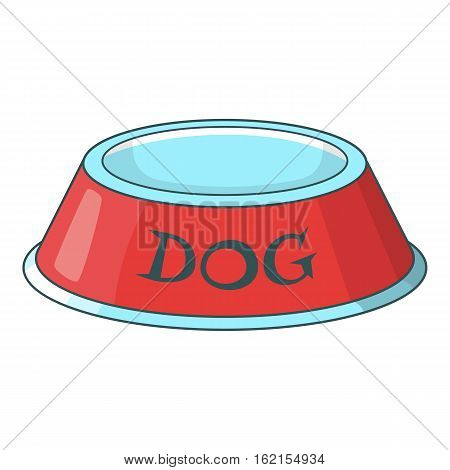 Pet dog bowl icon. Cartoon illustration of pet dog bowl vector icon for web