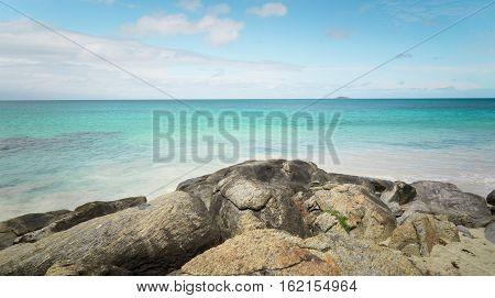 Seascape of Cape Leeuwin along the Indian Ocean Augusta Western Australia.