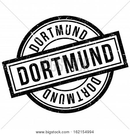 Dortmund rubber stamp. Grunge design with dust scratches. Effects can be easily removed for a clean, crisp look. Color is easily changed.