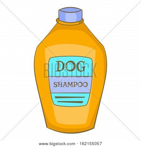 Dog shampoo icon. Cartoon illustration of dog shampoo vector icon for web