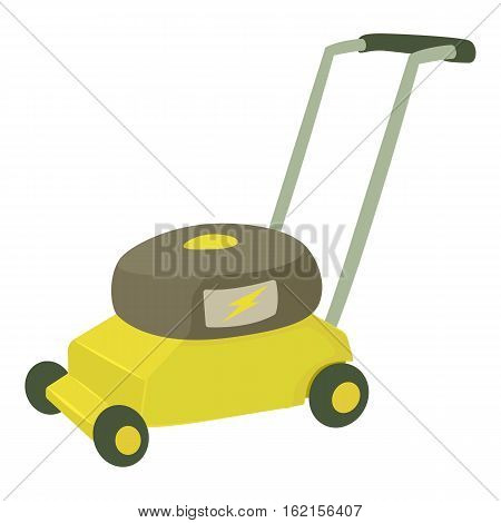 Lawnmower icon. Cartoon illustration of lawnmower vector icon for web design