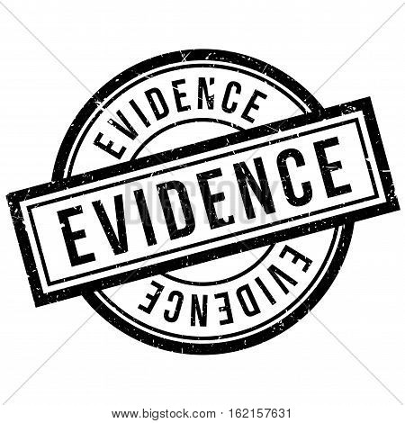 Evidence rubber stamp. Grunge design with dust scratches. Effects can be easily removed for a clean, crisp look. Color is easily changed.