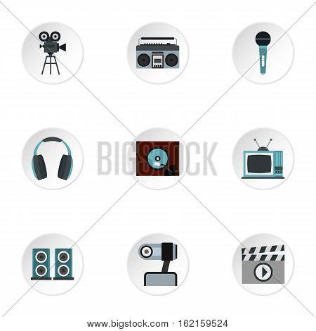 Electronic communication icons set. Flat illustration of 9 electronic communication vector icons for web