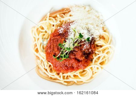 pasta wit sauce and cheese