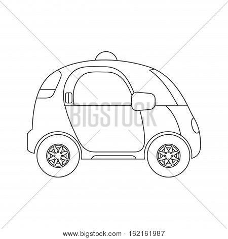 self driving car future icon vector illustration design