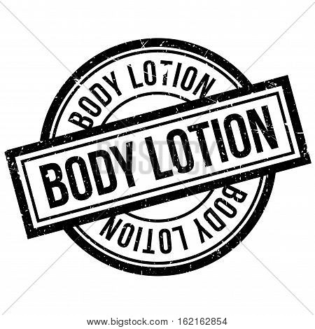 Body Lotion rubber stamp. Grunge design with dust scratches. Effects can be easily removed for a clean, crisp look. Color is easily changed.