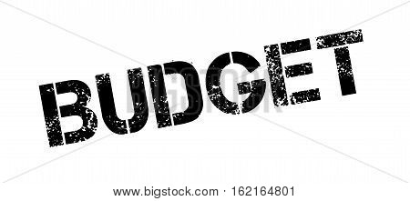 Budget rubber stamp. Grunge design with dust scratches. Effects can be easily removed for a clean, crisp look. Color is easily changed.