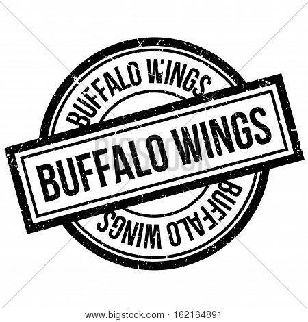 Buffalo Wings rubber stamp. Grunge design with dust scratches. Effects can be easily removed for a clean, crisp look. Color is easily changed.