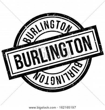 Burlington rubber stamp. Grunge design with dust scratches. Effects can be easily removed for a clean, crisp look. Color is easily changed.