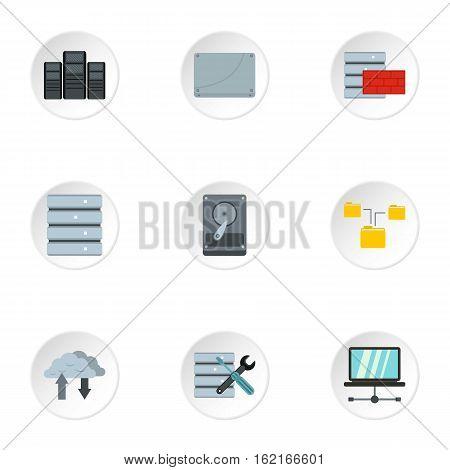 Computer repair icons set. Flat illustration of 9 computer repair vector icons for web