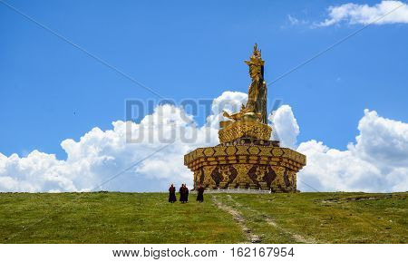 Big Buddha On The Grass Hill
