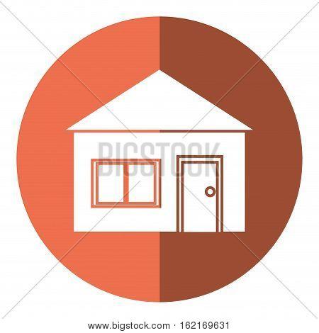 house suburban architecture shadow vector illustration eps 10