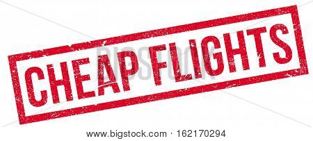 Cheap Flights rubber stamp. Grunge design with dust scratches. Effects can be easily removed for a clean, crisp look. Color is easily changed.