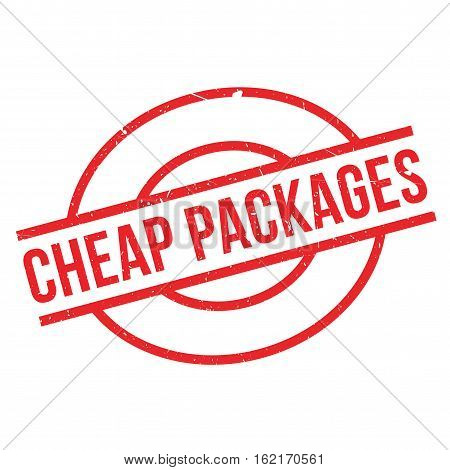 Cheap Packages rubber stamp. Grunge design with dust scratches. Effects can be easily removed for a clean, crisp look. Color is easily changed.