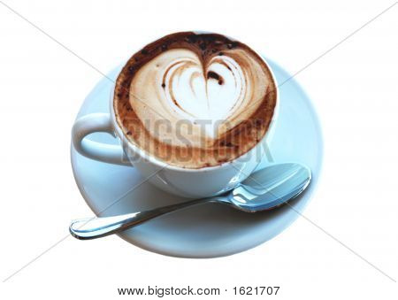 Cup Of Love Coffee - Isolated