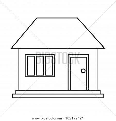 house home family residential outline vector illustration eps 10