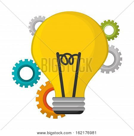 bulb idea creative innovation vecto illustration eps 10