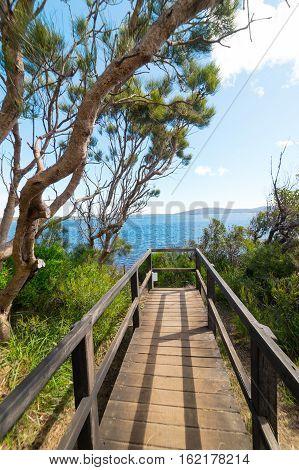 Scene view on Coalmine Beach Walpole Australia .