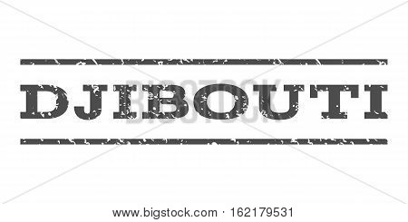 Djibouti watermark stamp. Text tag between horizontal parallel lines with grunge design style. Rubber seal stamp with dirty texture. Vector gray color ink imprint on a white background.