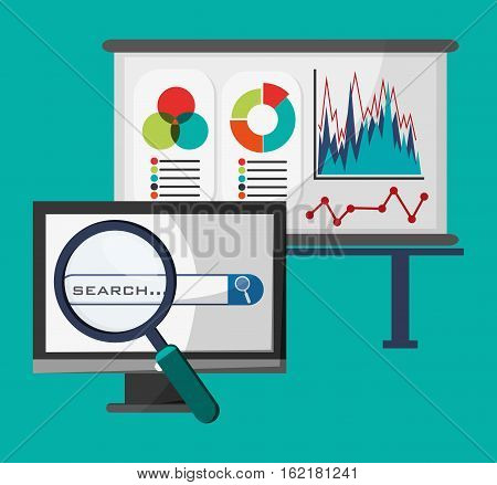 office network search strategy buisness vector illustration eps 10